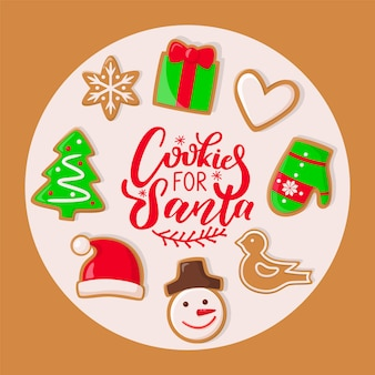 Cookie voor santa claus sweets christmas holiday