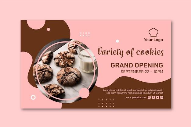 Cookies advertentie sjabloon voor spandoek