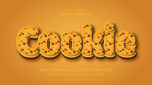 Cookies bewerkbare teksteffectsjabloon