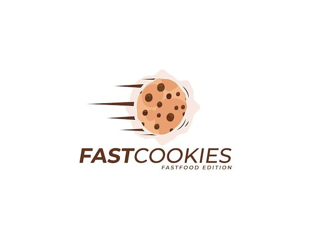 Cookies cake illustratie logo ontwerp