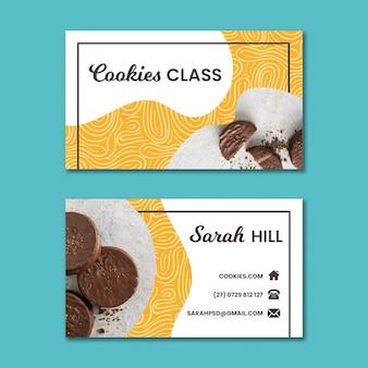 Cookies dubbelzijdig horizontaal visitekaartje