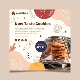 Cookies folder sjabloon Premium Vector