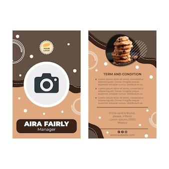 Cookies id-kaartsjabloon