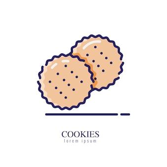 Cookies pictogram op een witte achtergrond