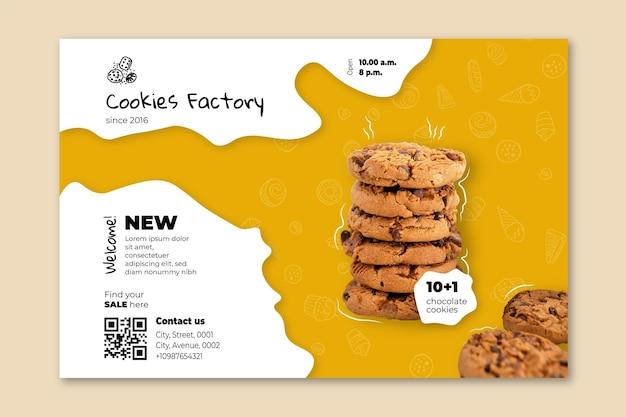Cookies sjabloon voor spandoek