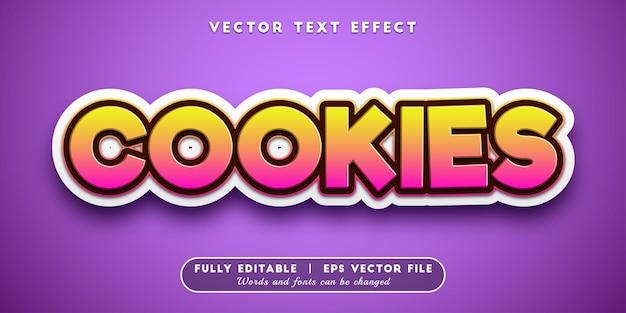 Cookies-teksteffect, bewerkbare tekststijl
