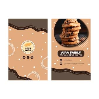 Cookies visitekaartje sjabloon
