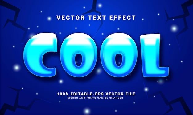Cool 3d-teksteffect, bewerkbare tekststijl en geschikt om het winterseizoen te vieren