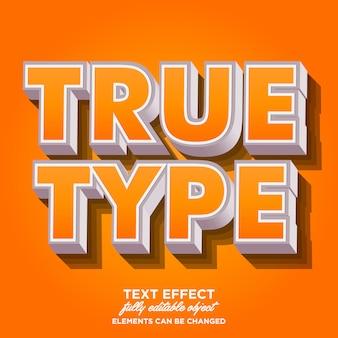 Cool 3d vet lettertype-effect