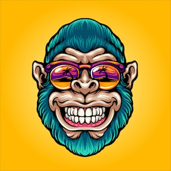 Cool apenhoofd in het paradijs