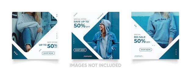 Cool instagram postsjabloon voor promotie van de productverkoop