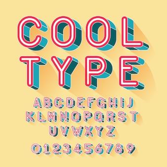 Cool isometrisch lettertype