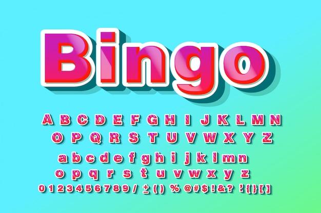 Cool modern alfabet