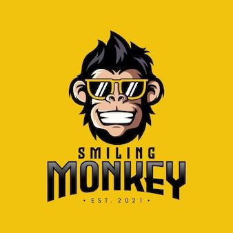 Cool monkey head logo design vector illustratie