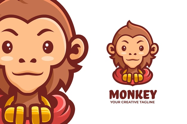 Cool monkey mascot logo character