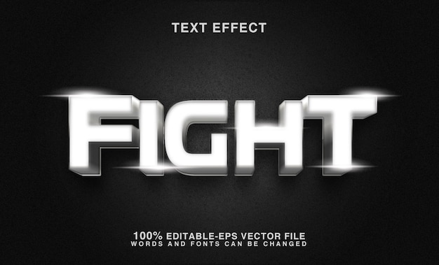 Cool strijd teksteffect bewerkbare lettertypestijl