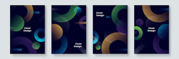 Cool trendy covers ontwerp. kleurrijk modernisme. minimale geometrische vormen samenstelling. futuristische patronen. bauhaus-stijl ontwerp gelaagde vector