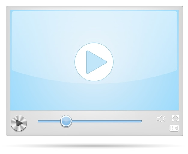 Cool video player-scherm