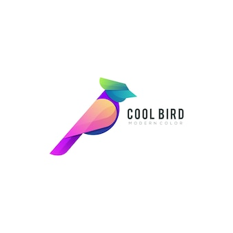 Cool vogel modern kleurrijk logo sjabloon