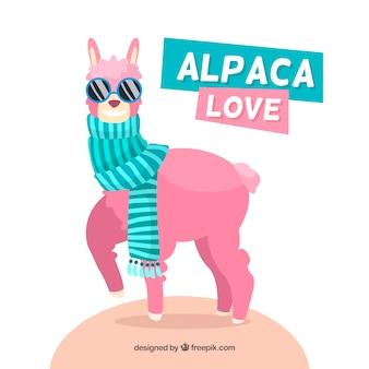 Coole alpaca achtergrond