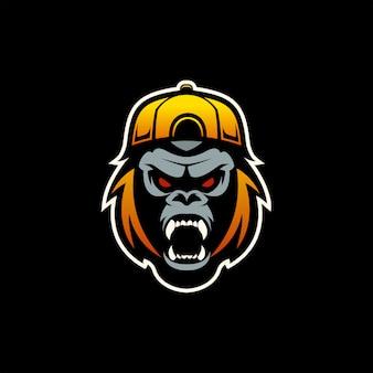 Coole gorilla-mascotte