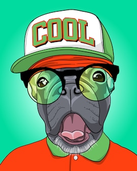 Coole hond illustratie