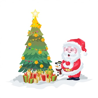 Coole kerst illustratie