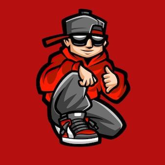 Coole mannen geweldig logo-ontwerp