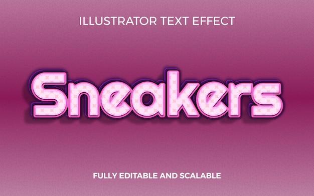 Coole sneakers titel teksteffect