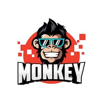 Coolmonkey hoofd logo vectorillustratie