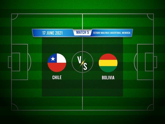 Copa america voetbalwedstrijd chili vs bolivia