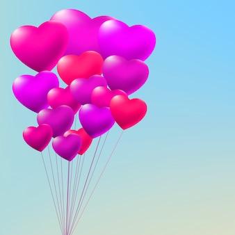 Copula van rode gelballons.