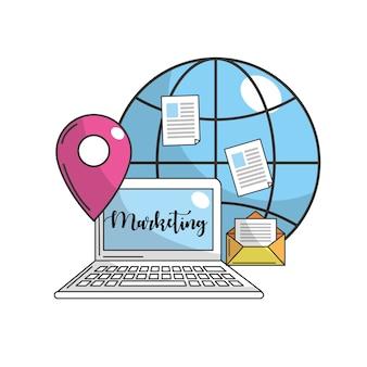 Coputer met globale verbinding en ubication