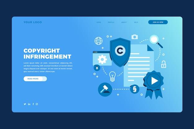 Copyright-bestemmingspagina