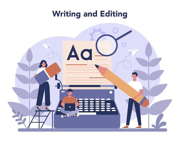 Copywriter concept illustratie