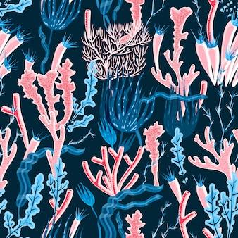 Coral naadloze patroon