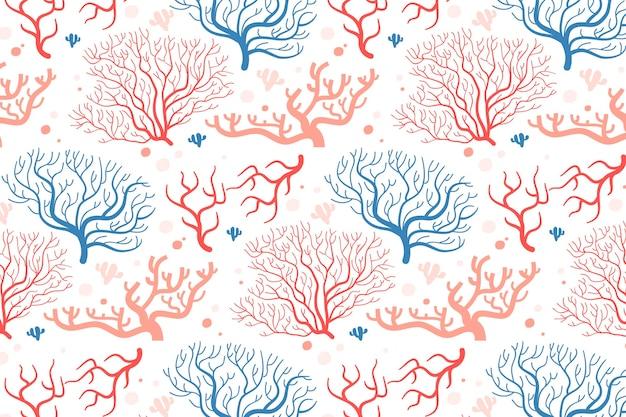 Coral patroon collectie concept