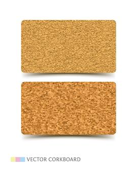 Cork board textuur visitekaartje sjabloon