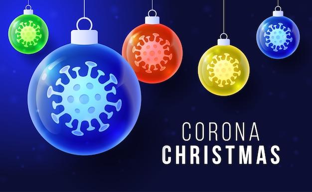 Corona kerst concept.