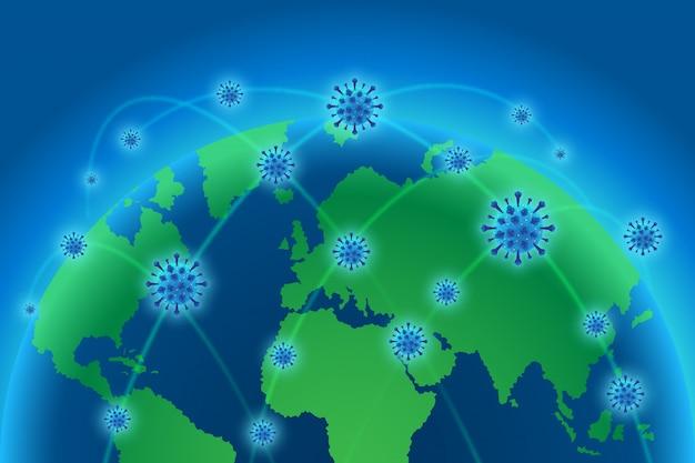 Corona virus achtergrond over de hele wereld