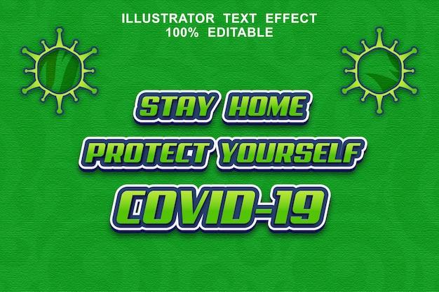 Corona-virus teksteffect bewerkbaar