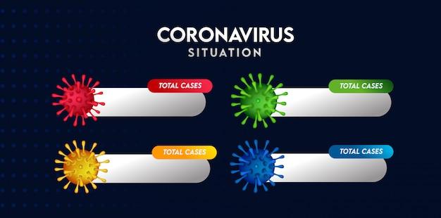 Corona virus totaalgevallen sjabloon set