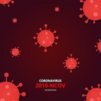 Coronavirus 2019-ncov. covid-19. wereldwijde verspreiding van virussen en ziekten. china pathogene luchtweginfectie. coronavirus concept. vector illustratie.
