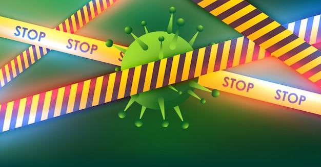 Coronavirus 2019-ncov en virusachtergrond met ziektecellen .covid-19 coronavirusuitbraak en pandemisch medisch gezondheidsrisicoconcept.