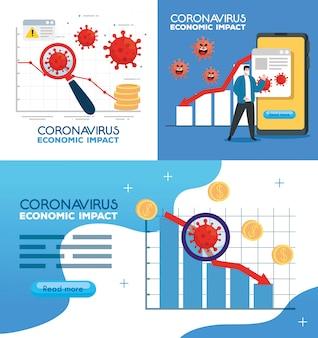 Coronavirus 2019 ncov heeft invloed op de wereldeconomie, covid 19 virus make-down economie, wereldeconomische impact covid 19
