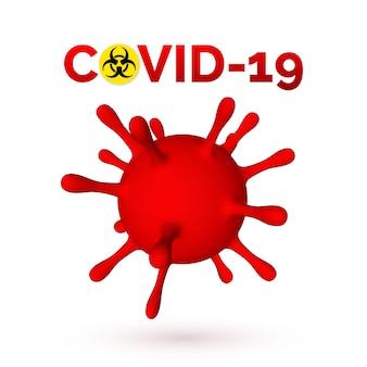 Coronavirus 3d illustratie van viruseenheid.