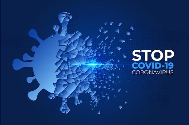 Coronavirus-achtergrond vernietigen