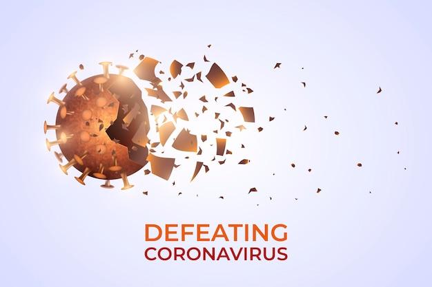 Coronavirus-achtergrondontwerp vernietigen