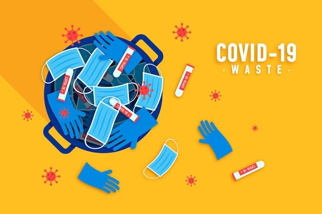 Coronavirus afval achtergrond