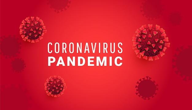 Coronavirus bacteria cell, sars-cov-2 moleculen met covid 19 pandemische tekst